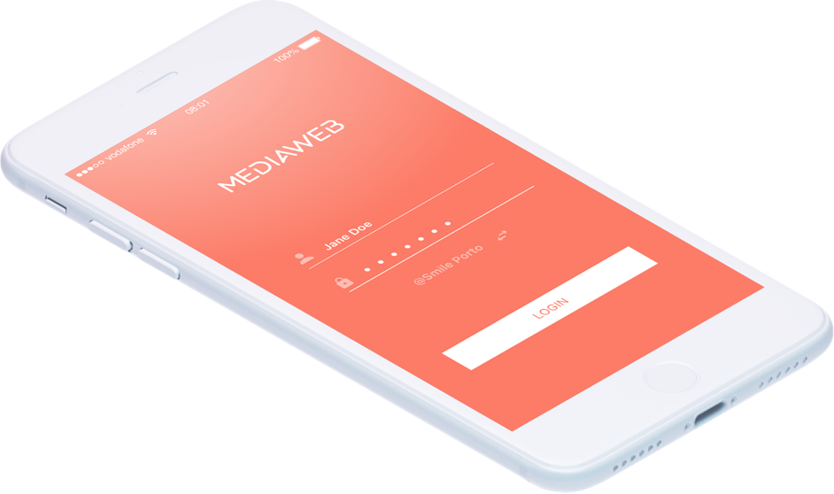 Dentist App Login Screen iPhone by Mediaweb