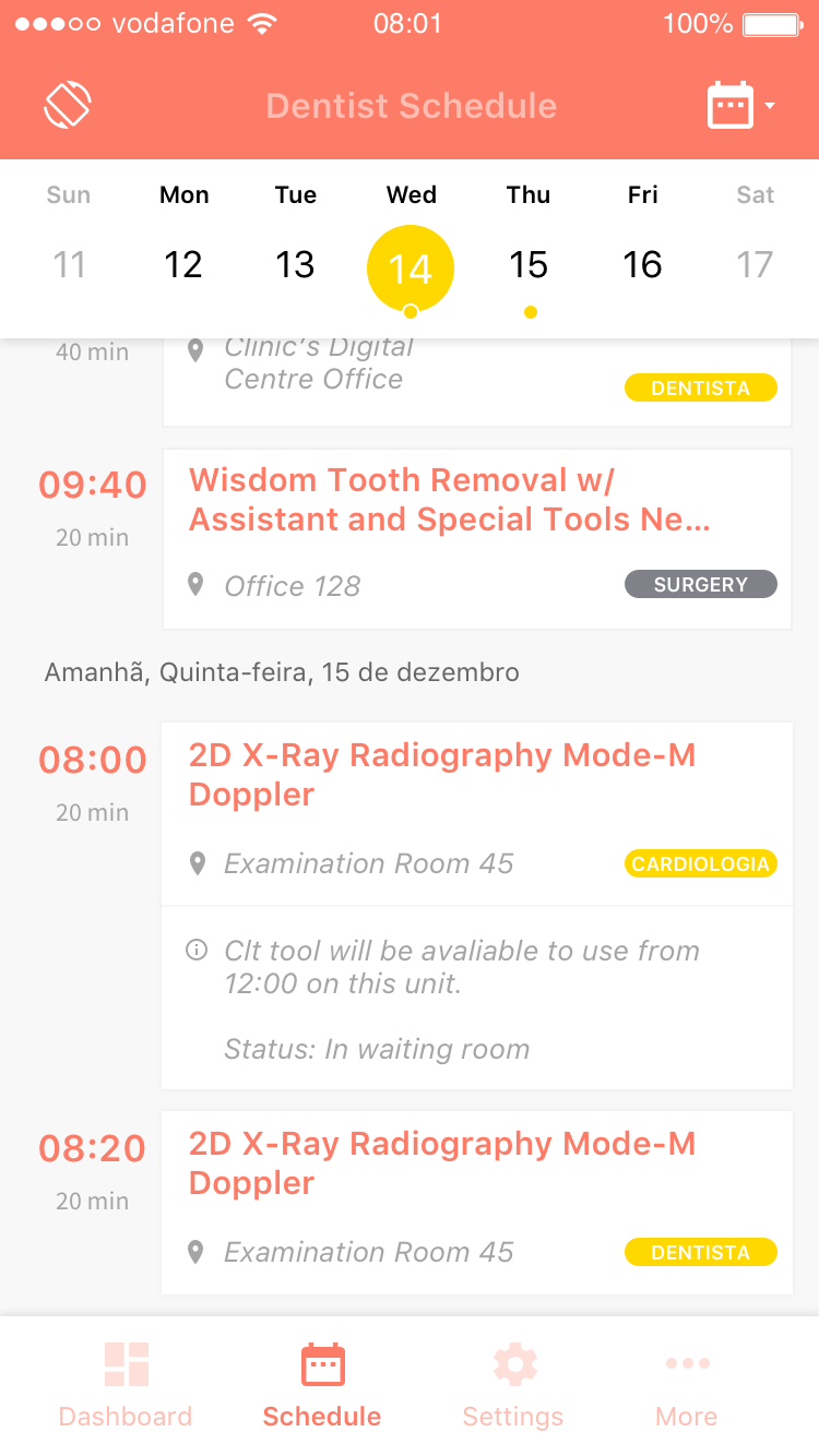 Dentist App Screen by Mediaweb